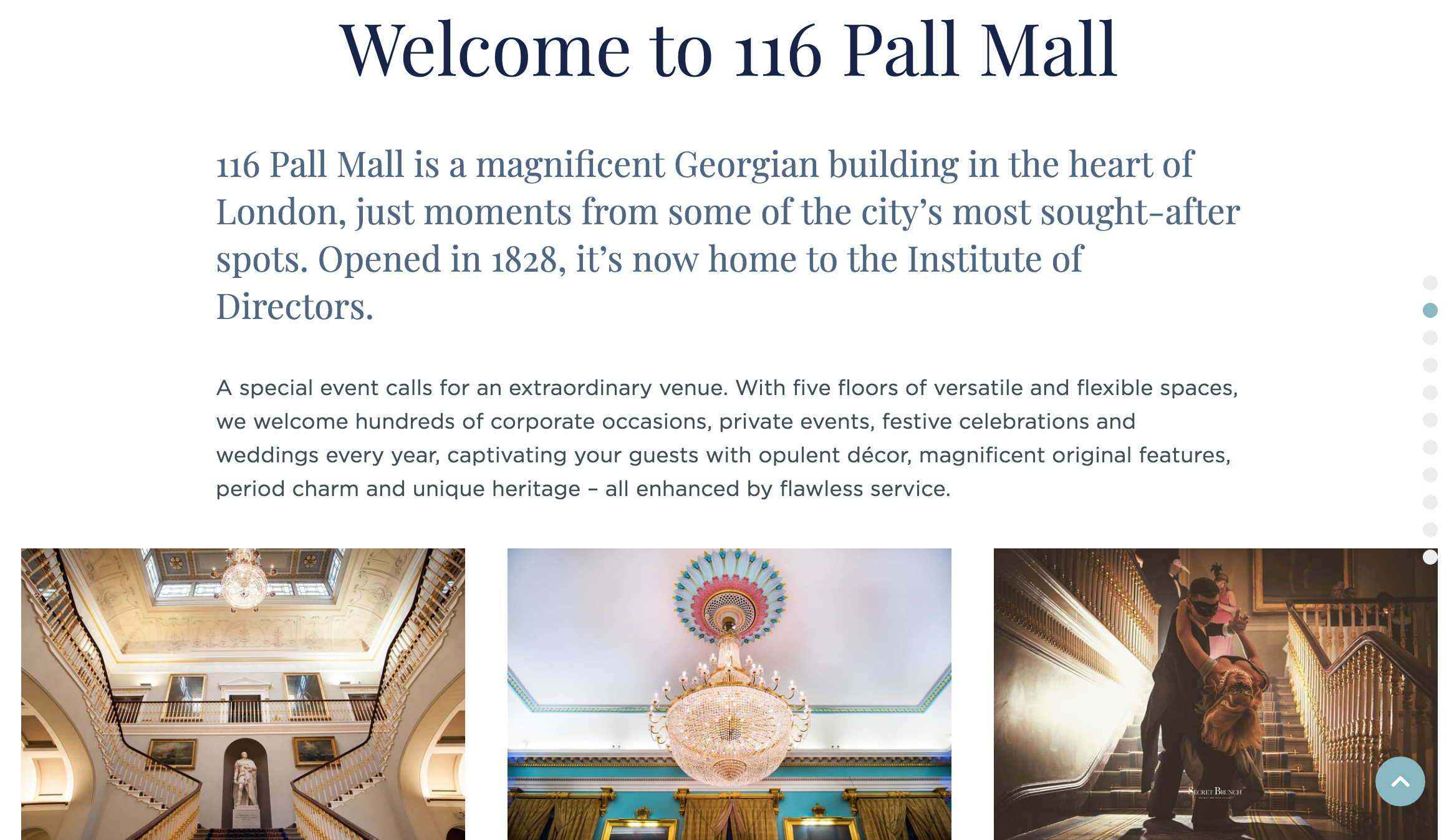 116 Pall Mall website