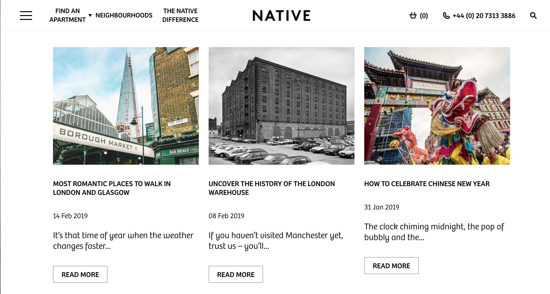 Native blog